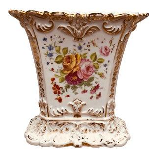 Late 19th Century Rectangular Paris Porcelain Spill Vase For Sale