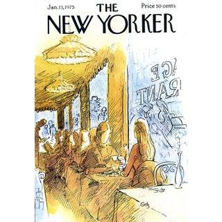 1975 New Yorker Cover, January 13 (Arthur Getz), Restaurant For Sale