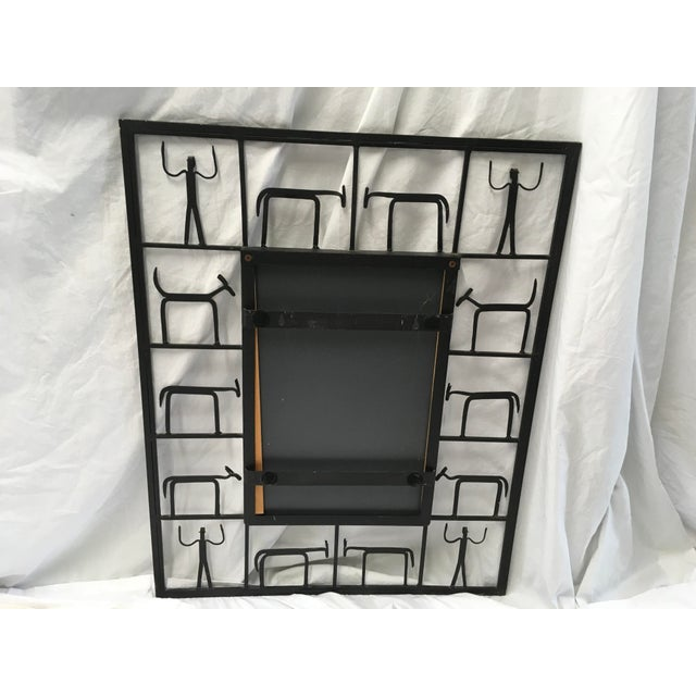 Frederick Weinberg Midcentury Modern Mirror For Sale In Atlanta - Image 6 of 10