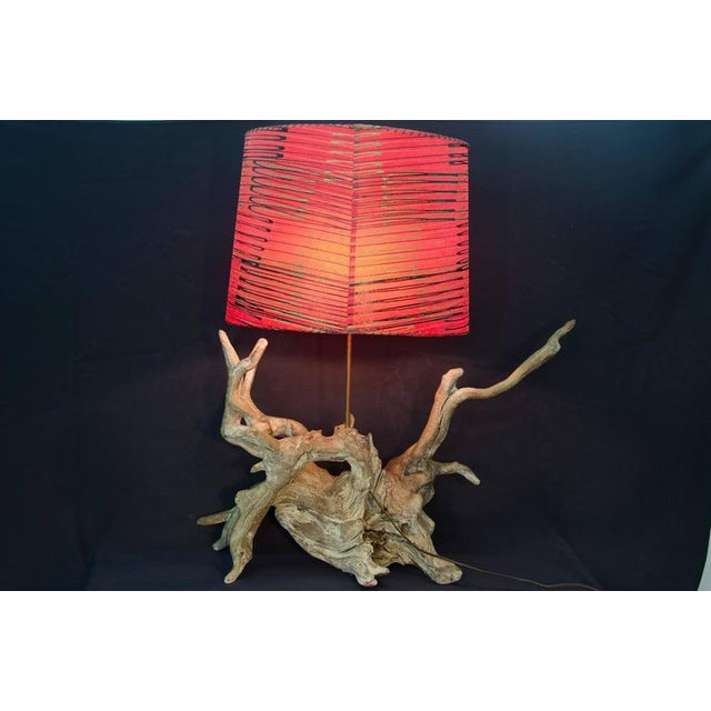 Vintage Driftwood Lamp With Shade - Image 5 of 6