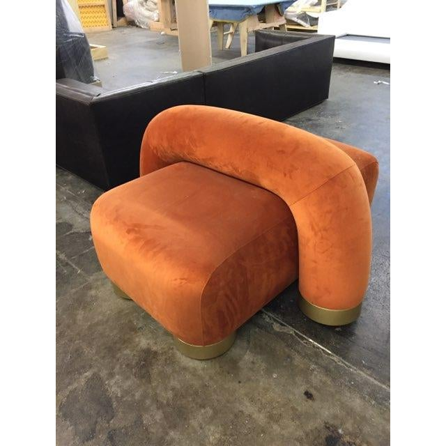 Not Yet Made - Made To Order Modern Twist Lounge Chair For Sale - Image 5 of 5