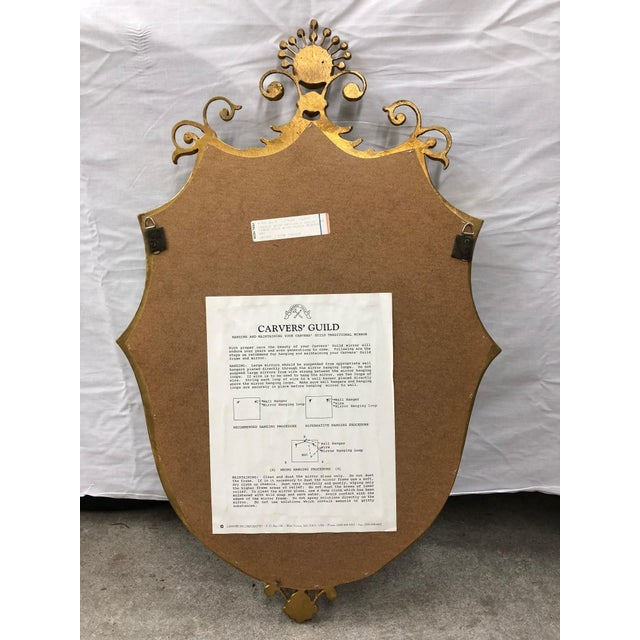 French French Style Shield Mirror With Crystals For Sale - Image 3 of 6