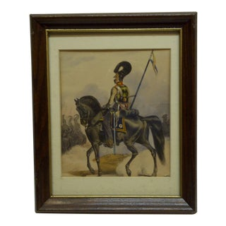 """""""Guidon Riding a Horse"""" Framed & Matted Print For Sale"""