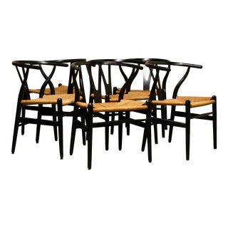 Han Wegner Wishbone Chairs- Set of 6 For Sale