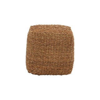 Natural Seagrass Pouf / Ottoman For Sale