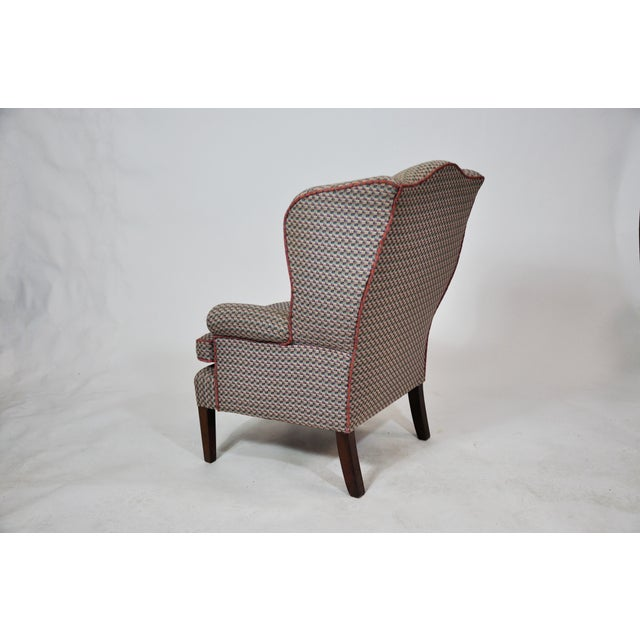 Vintage French Kids Wing Chair Newly Upholstered For Sale - Image 4 of 13