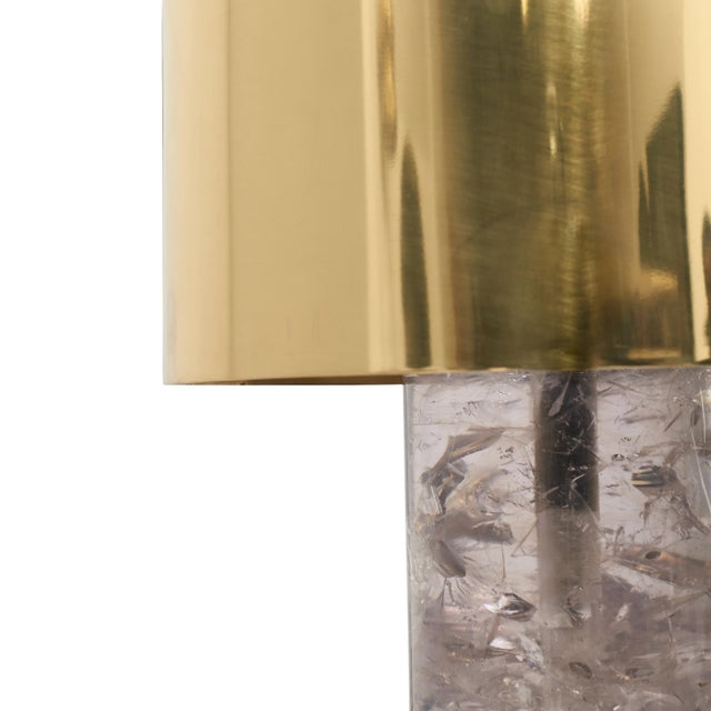 """""""Brass on the Rocks"""" Table Lamp by Sylvan San Francisco Materials: Brass, Ice-Cracked Fractal Resin Color: Polished, Clear..."""