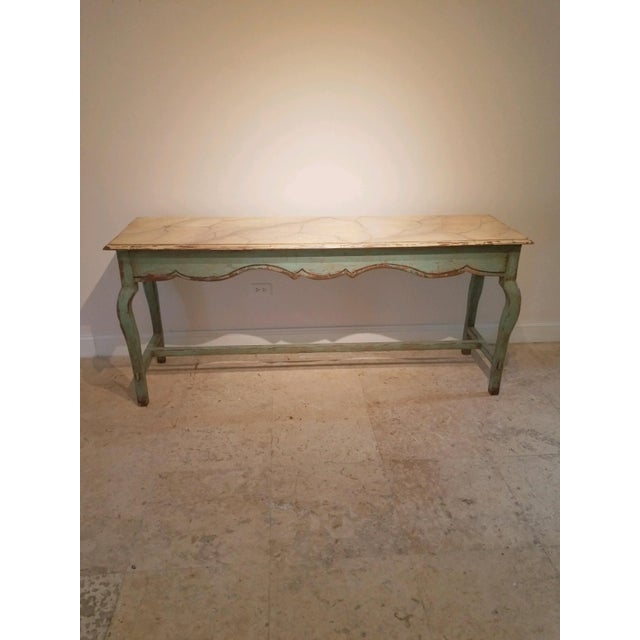 Paint 1990s French Country Nierman Weeks Console For Sale - Image 7 of 7