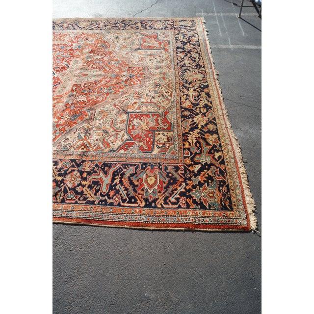 Antique Hand Woven Persian Heriz Rug - 11′6″ × 16′8″ - Image 8 of 10
