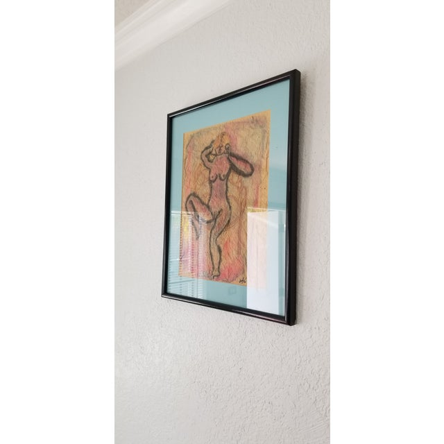 1990 Ghort Marino Abstract Nude Female Painting For Sale - Image 4 of 11