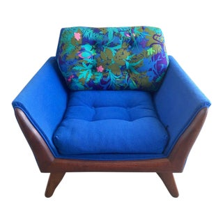 1960s Vintage Adrian Pearsall Sculpted Walnut Wood Club Lounge Chair For Sale