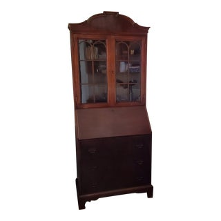 Traditional Mahogany Secretary Desk Skandia Furniture Co. For Sale