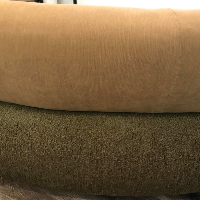 Textile 1990s Sculptural Post Modern Curved Italian Sectional For Sale - Image 7 of 11
