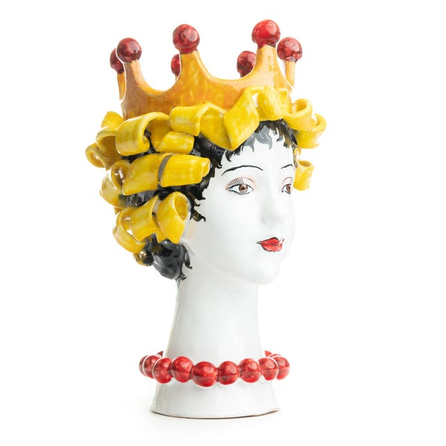 Sculpture with Crown, Ceramiche D'arte Dolfi For Sale - Image 4 of 12