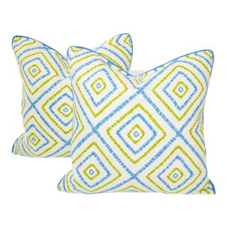 "Thibaut Kozar 18""x18"" Pillows With Down Inserts - a Pair For Sale"