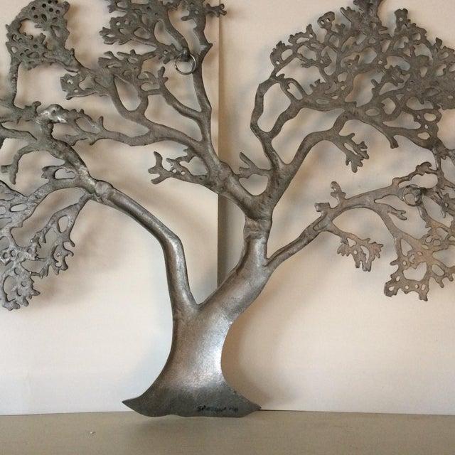 Mid-Century Industrial Aluminum Tree of Life - Image 6 of 11