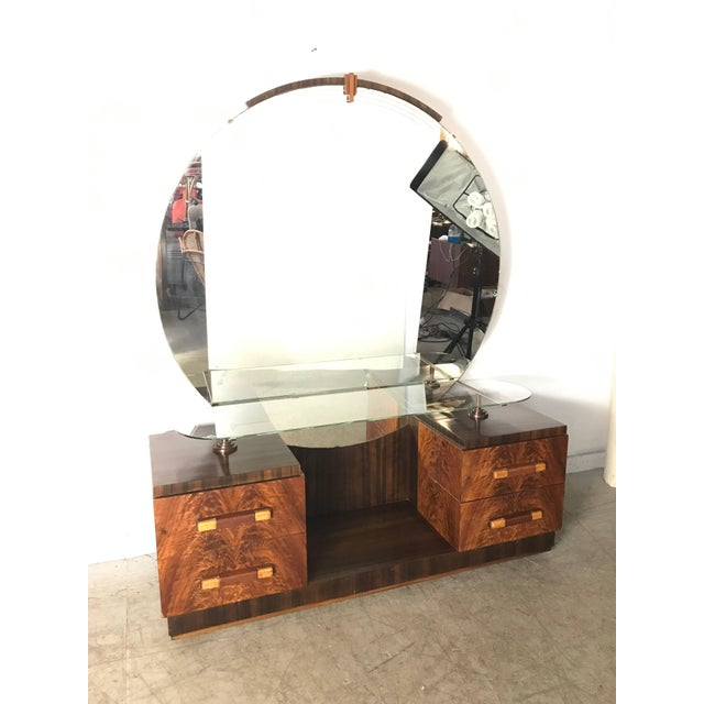 1930s American Art Deco Vanity / Dressing Table in the Manner of Donald Deskey For Sale - Image 5 of 10
