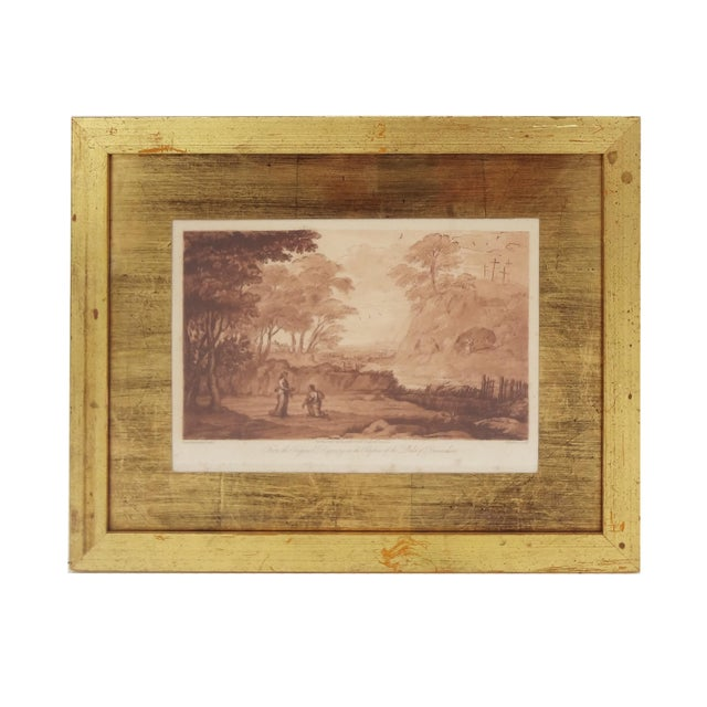 Neoclassical Sepia Mezzotint Prints by Claude Lorraine - a Pair For Sale - Image 3 of 7