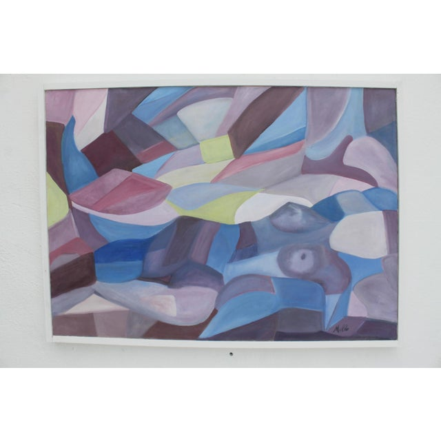 Vintage Cubist Painting of a Woman - Image 2 of 10