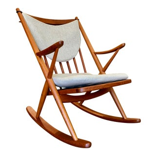 Danish Teak Rocking Chair by Frank Reenskaug For Sale
