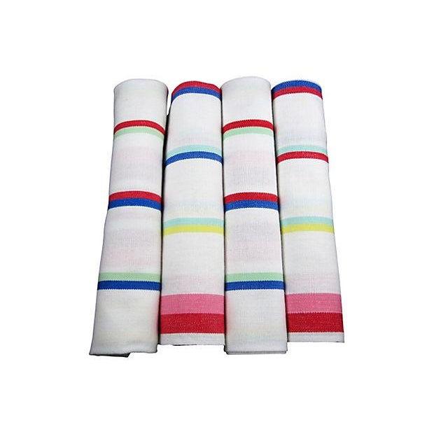 Vintage Awning Stripe Oversize Napkins - S/4 - Image 1 of 4