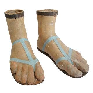 19th Century Papier Mache Feet For Sale