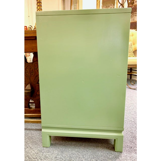Green 1960s Landstrom Furniture Co. Chinese Chippendale Sideboard For Sale - Image 8 of 13