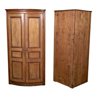 19th Century French Boiserie Panel Corner Cabinets - a Pair For Sale