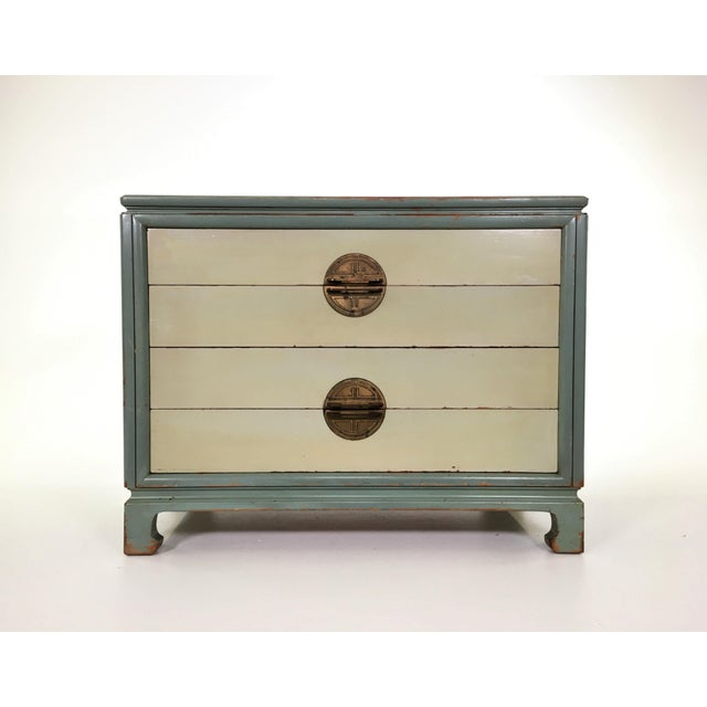 Asian Inspired Mid-Century Modern Solid Wood Bachelor Chest of Drawers For Sale - Image 13 of 13