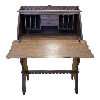 Early 20th Century Drop Down Front Secretary Desk For Sale