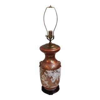 Vintage Japanese Kutani Ware Vase Lamp