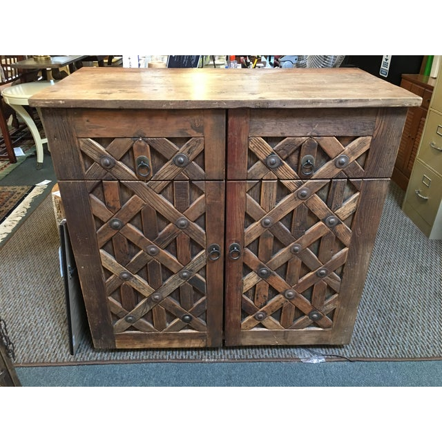 Vintage Saxon Wine Wood Cabinet - Image 2 of 11