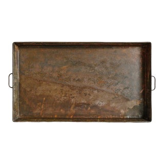 Vintage Large Iron Tray For Sale