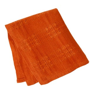 1970s Mid Century Modern Burnt Orange Tea Towel For Sale