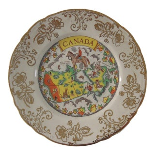 """W. Adams & Sons England 22 Kt Gold """"Canada"""" Plate For Sale"""