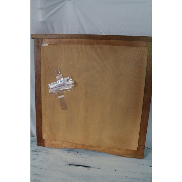 1970s Mid-Century Beveled Mirror in Sturdy Frame For Sale - Image 5 of 7