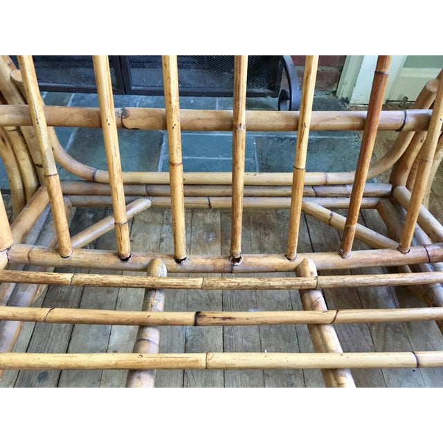 Mid-Century Modern Bamboo Club Chair - Image 3 of 10