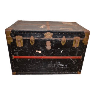 1940s Vintage Steamer Trunk For Sale