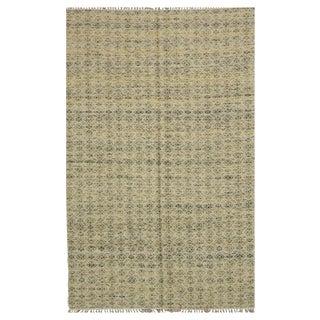 Handmade Indian Kilim - 5′2″ × 8′ For Sale