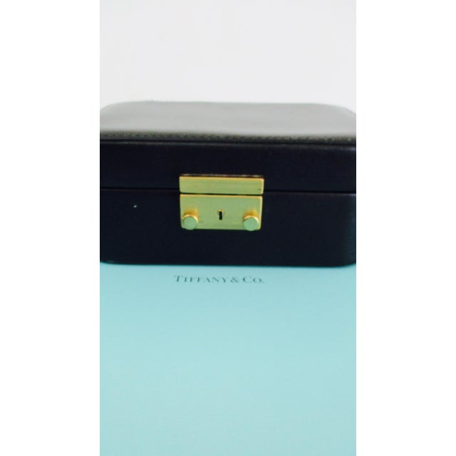 86d8ccf93 Tiffany and Co. Tiffany & Co. Black Leather Jewelry Box Case For Sale -