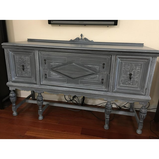 Vintage Hand-Painted Distressed Sideboard For Sale - Image 9 of 9