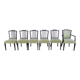 Solid Mahogany Set of Six Dining Chairs 2440 For Sale