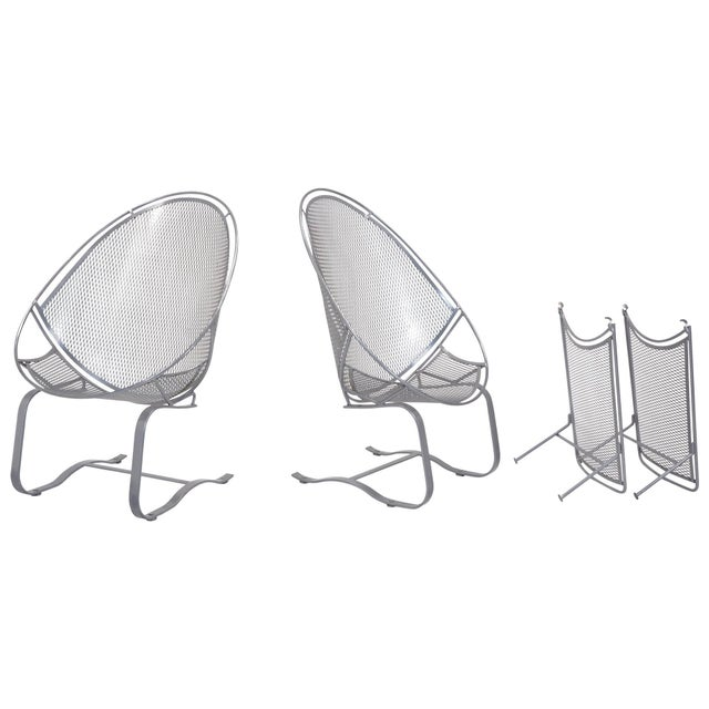 John Salterini High Back Patio Lounge Chairs With Footrests - a Pair For Sale - Image 11 of 11