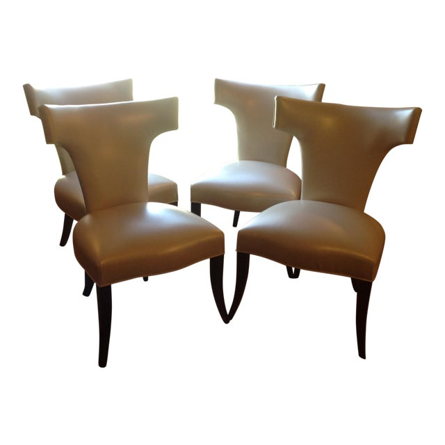 Brilliant Modern Mid Century Style Klismos Dining Chairs Set Of 4 Ibusinesslaw Wood Chair Design Ideas Ibusinesslaworg