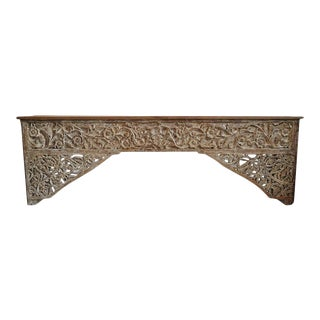 Narrow Architectural Carved Console For Sale