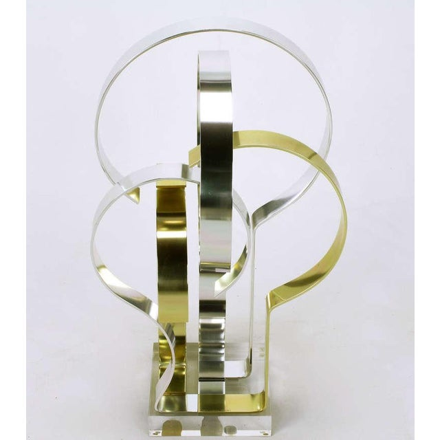 Contemporary Dan Murphy (American 20th C) Gold & Clear Anodized Aluminum Sculpture For Sale - Image 3 of 10