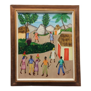 1973 Mid-Century Modern Benoit Painting For Sale