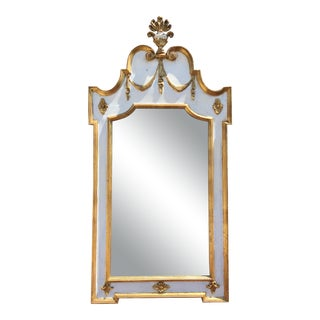 Vintage Regency Style Painted Mirror For Sale