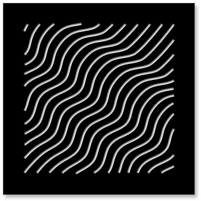 Chuck Krause Waves (Black & White), original three dimensional geometric design wall relief 2020 For Sale - Image 4 of 4