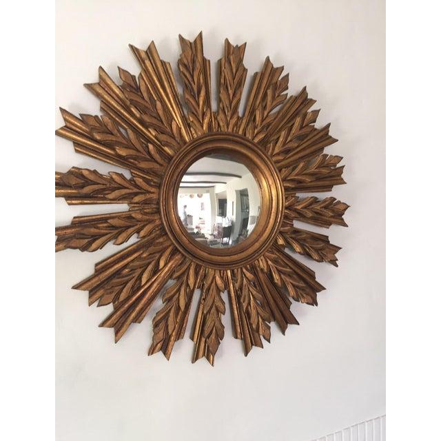 Wooden Sunburst Mirror - Image 5 of 11